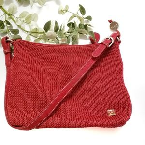 The Sak Red Knit Shoulder Handbag
